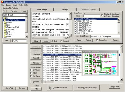 AutoCAD Batch Script Automation screenshot